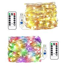 Hot in Asian best quality clean room decoration accessories led usb string copper wire lights