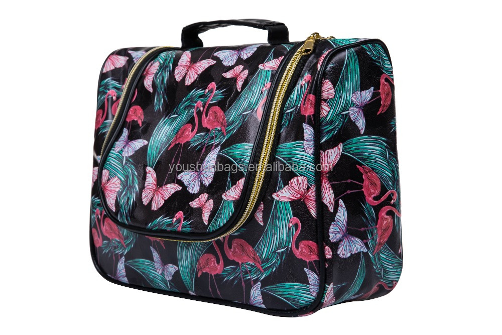 Pu leather digital printing cosmetic bags cases