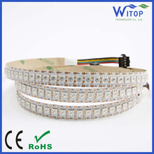 Waterproof WS2813 5050 144eds/m LED strip white PCB Colorful DC 5V led lights Like horse running