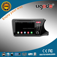 ugode wholesale car kit car dvd gps player android quad car dvd player for honda 2014 City