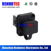 waterproof rj45 bulkhead connector