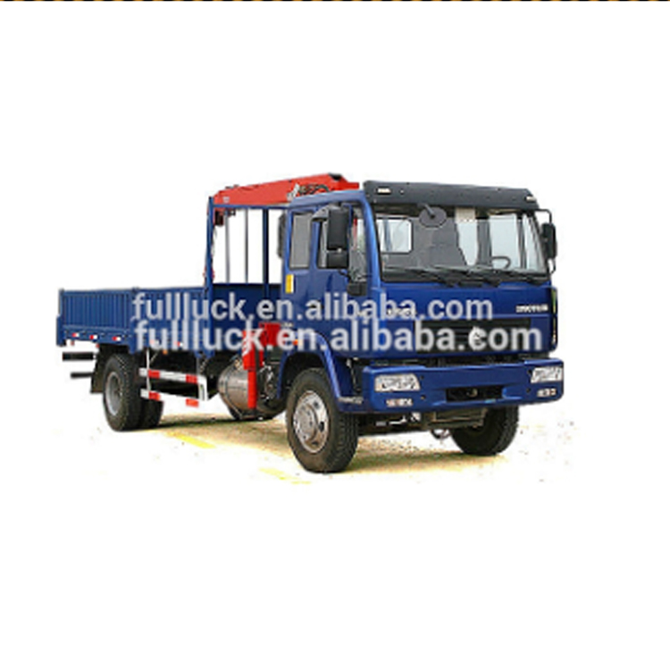 China good price howo 3 ton crane truck for sale