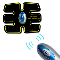 Wireless remote TENS massager device with belly pads and arm electrode pads unit