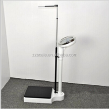 Height measurement scale mechanical weighing apparatus