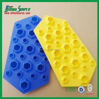 customized FDA passed Diamond shaped silicone ice cube tray