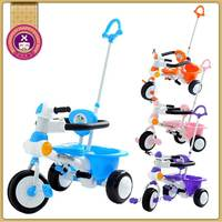 Hot Sale PP Plastic Type 10 Months Tricycle Trike Toy W Push Bar