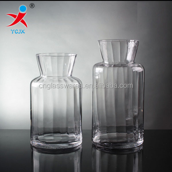 Europe to restore ancient ways ribbed creative handicraft transparent glass vase household adornment furnishing articles