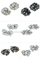 Classic style custom made rhinestone crystal metal shoe buckle shoe clips for women flat shoes
