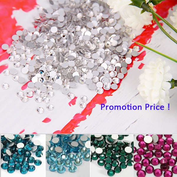 SS3- SS40 top quality wholesale glitters rose gold ab crystal jewelry nail rhinestones