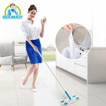 BOOMJOY House Cleaning Tools Twist Non-woven fabric Floor Flat Mop With Metal Handle