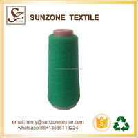 cheap recycled color green cone yarn for knitting machine