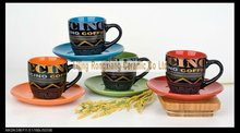 220cc cups and saucers full color glaze