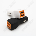 New design fanshion car charger with rubber oil and CE FCC ROHS