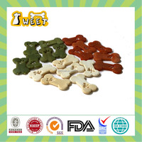 25g/piece BBQ Flavor Wholesale Bulk Rawhide Free Canine Dental Chews Biscuit Funny Shape Dog Food