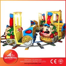Popular playground kiddy play games cartoon mini train amusement park toy train for sale