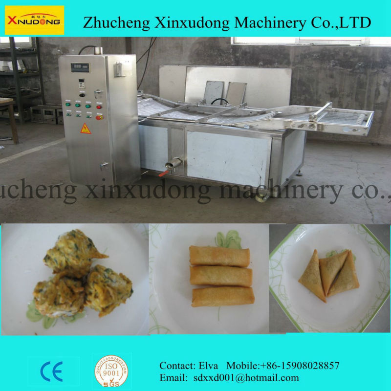 Chicken nuggets batch frying and continous frying machine