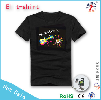 on alibaba wholes electroluminescent EL T shirt Panel