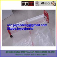 masking plastic film with dispenser easy to use for automotive painting