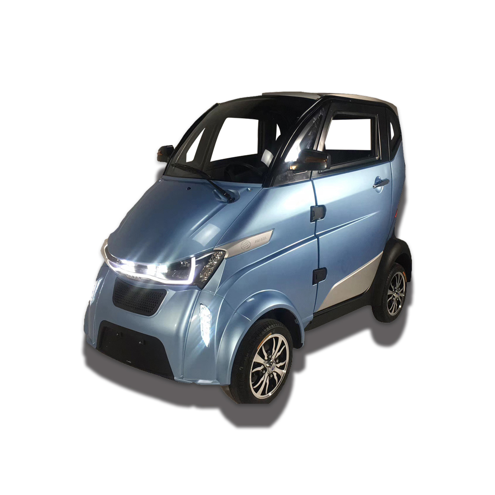Blue high speed small electric four wheel <strong>car</strong> with 3 seats