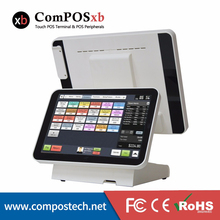 15 inch TFT LCD Dual Screen Touch Monitor Point Of Sale All In One Pos System
