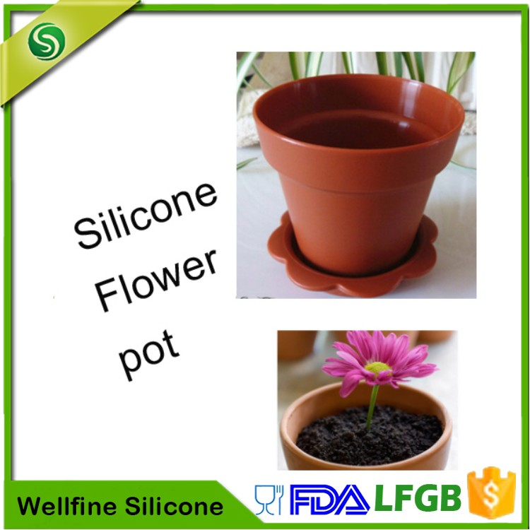 Collapsible Silicone Flower Pot,Flexible Folding Silicone Plant Pot