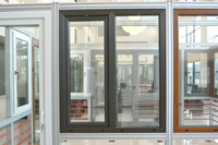 China low price products wooden grain aluminum window and door best sales products in alibaba