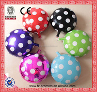 Balloon Manufacturer 18inch round shape birthday party balloon wave point printed foil balloon
