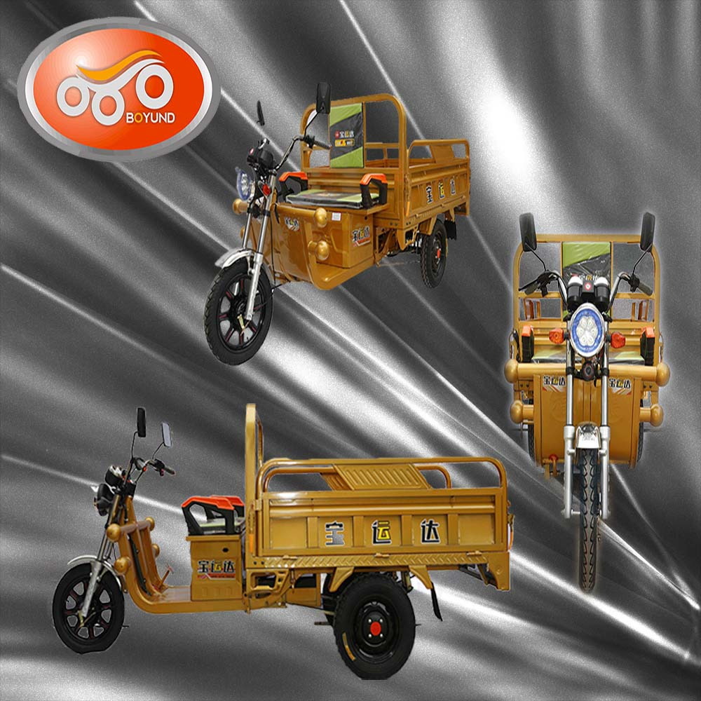 2016 High Tech Electric Chinese Adults Tricycle Three Wheel For Cargo
