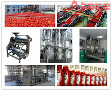 Full automatic complete tomato paste processing line