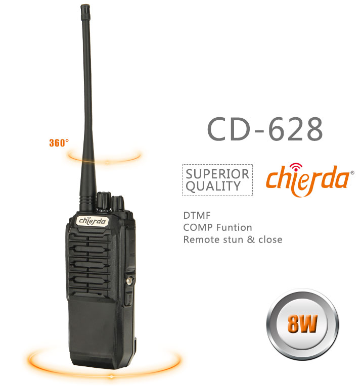 Security guard equipment transmitter uhf 400-470 MHz fm walkie talkie
