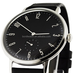 Hot-selling Thin Watches Men with Gift Box Nato Strap Silver Women/Men Vogue Watch