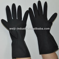 CE Aprroved Black Outside and Orange Inside Hand Protection Industrial Glove ( IS09001 )
