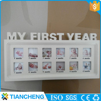 My first year baby wooden multi square photo frames for home and garden decoration