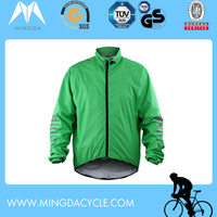 men's customized winter cycling jacket fluo color