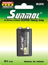 2014 new hottest sale 9V 6F22 dry battery