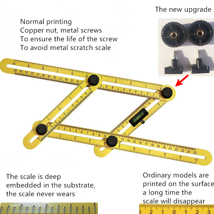 Best seller angle-izer angle measurement multifunctional ruler measurement foldable precise measure template tools
