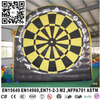 inflatable foot dart board for soccer shooting 4X4M