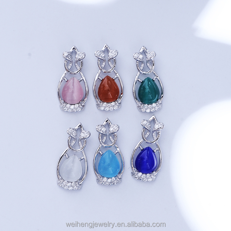 factory direct wholesale 925 silver jewellery opal jewelry opal pendant in online shopping