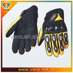 Factory price Waterproof leather motorcycle gloves, full finger motorcycle gloves