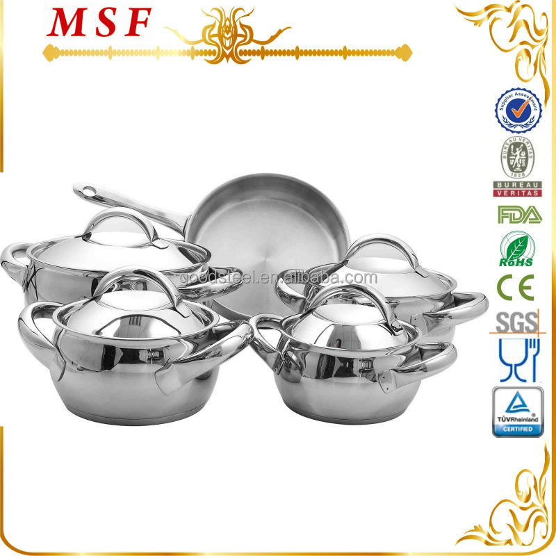 9pcs elegant perfect apple shape stainless steel cookware set non stick coating in frypan available MSF-3339