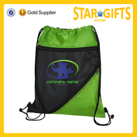 wholesale functional logo printed fashion sports drawstring backpack cinch bag