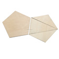 Wooden pentagon teaching tools mathematics exercise