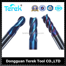 Terek 4Flutes Tungsten Carbide Cutting Tools Milling Tools With Nano Coating