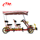 Most fashionable 4 wheel adult bike tandem bicycle for sale/ park canvas cloth bike