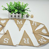 Wedding Burlap Bunting Decoration
