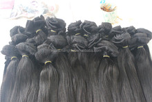Top quality!! Best Selling Full Remy Double Weft 100% Human hair extensions clip in