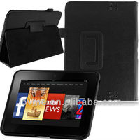 "360 Rorating PU Leather Flip Smart Case Cover Stand for Amazon Kindle Fire HD 7"" Inch Tablet"