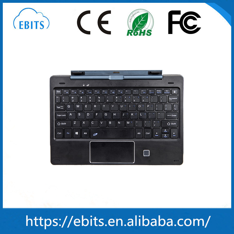 10.1-inch 5 pogo pin keyboard for Win 8 tablet PC with fingerprint ID