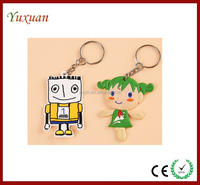 New Toys Gifts Soft Touch PVC Key Chain,3d cartoon soft touch pvc keychain