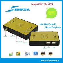 dvb-s2 full hd microbox mini fta receiver, Sunplus1506C BISS and PVR Support
